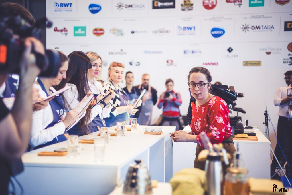 Fred competing at the Italian Barista Championship in 2018, where she placed 4th.