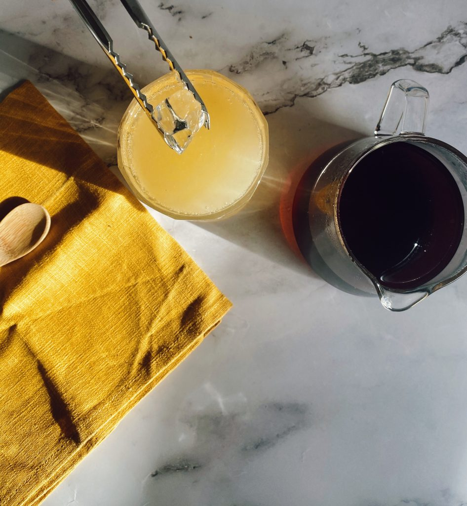 Pear, Coffee & Honey Spritzer.